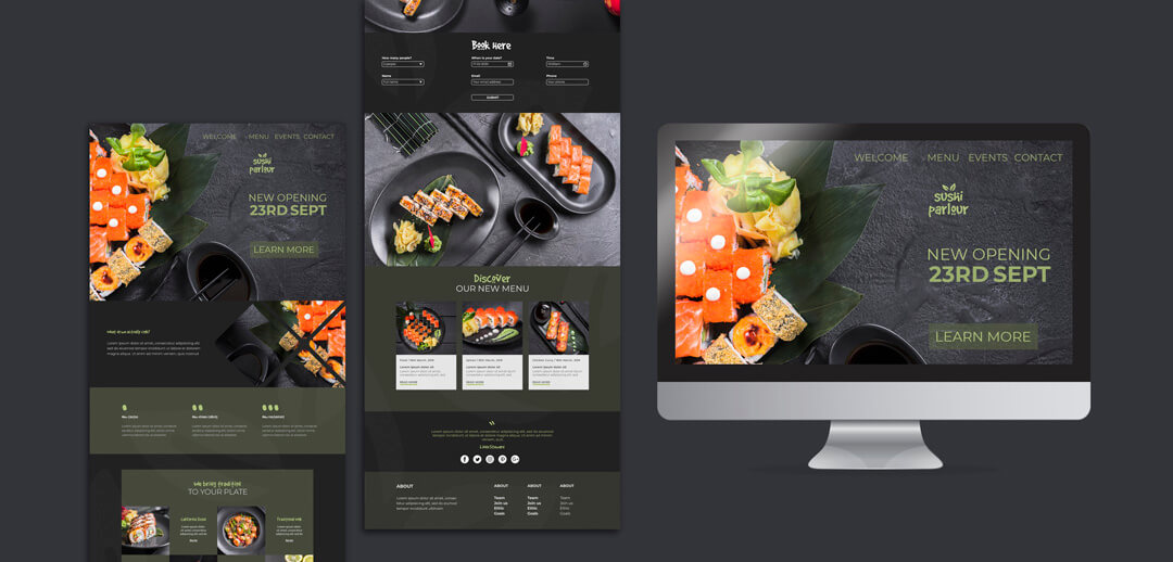 Japanese Restaurant Webdesign